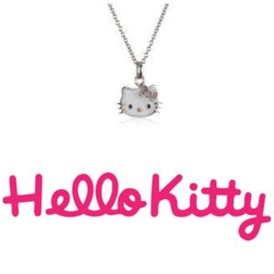 """😺Sterling Silver Hello Kitty Bow Necklace 15""""😺"""